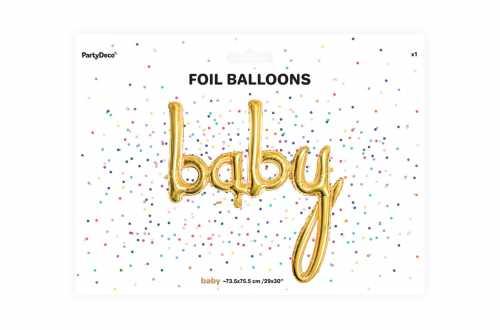 Ballon boy doré - 73,5 x 75,5cm