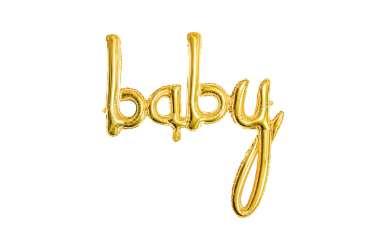 Ballon baby doré - 73,5 x 75,5 cm
