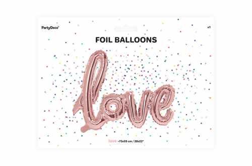 Ballon love rose - 73 x 59 cm