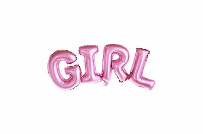 Ballon GIRL rose - 74 x 33 cm