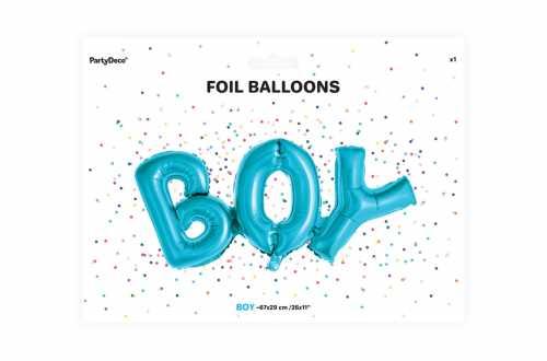 Ballon BOY bleu - 63,5 x 74 cm