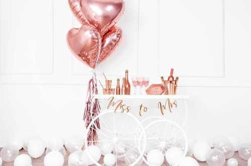 Ballon cœur rose - 45 cm
