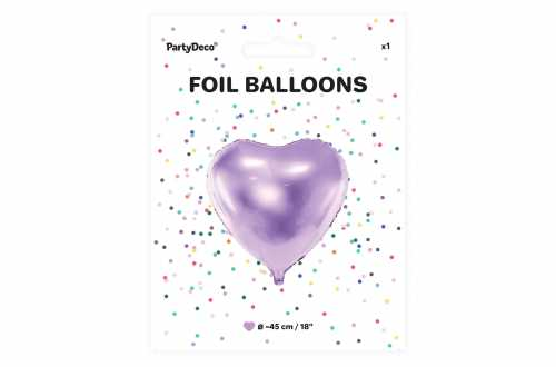 Ballon cœur violet - 45 cm