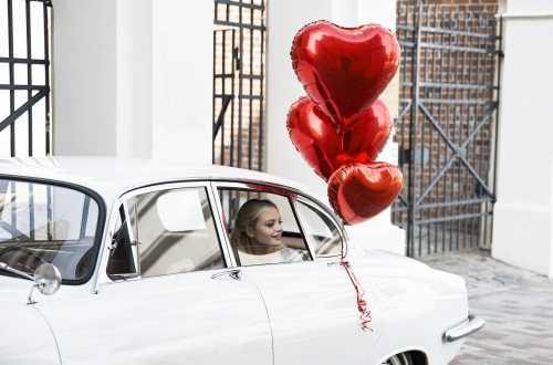 Ballon cœur rouge - 45 cm