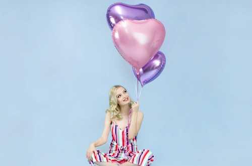 Ballon cœur rose light - 45 cm