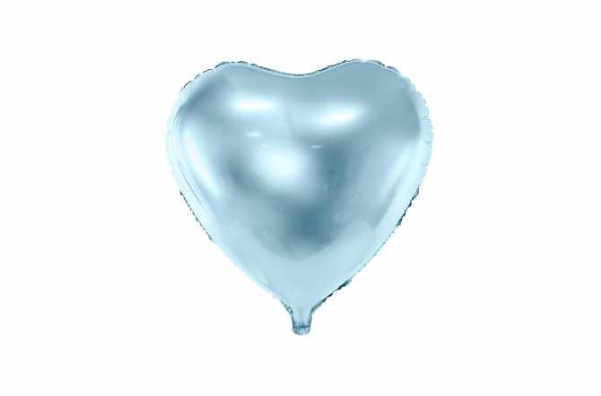 Ballon coeur bleu light - 45 cm
