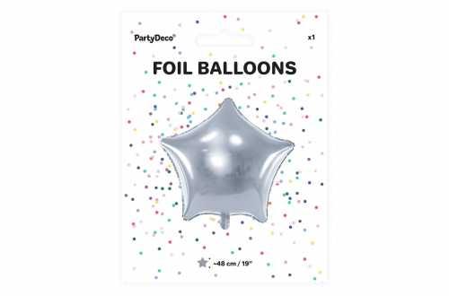 Ballon étoile argenté - 48 cm
