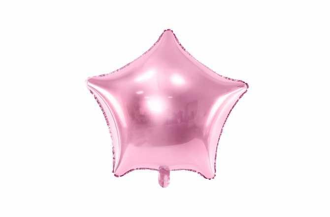 Ballon étoile rose light - 48 cm