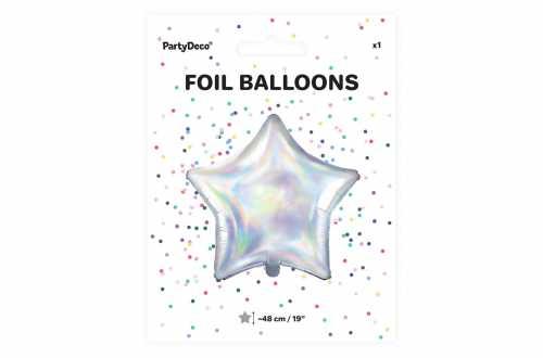 Ballon étoile irrisé - 48 cm