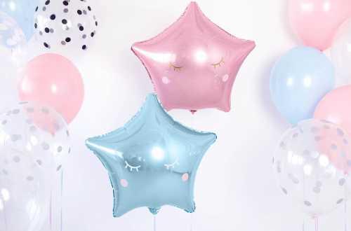 Ballon étoile bleu light - 48 cm