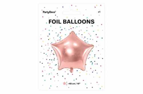 Ballon étoile rose - 48 cm