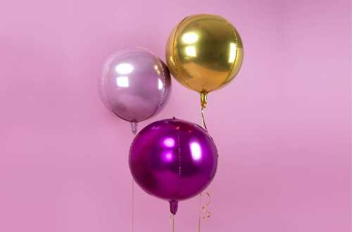 Ballon rond ombré rose light - 40 cm