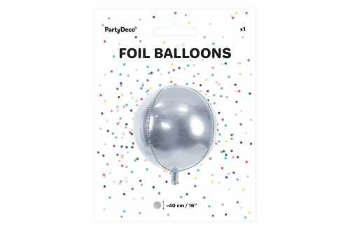 Ballon rond ombré argenté - 40 cm