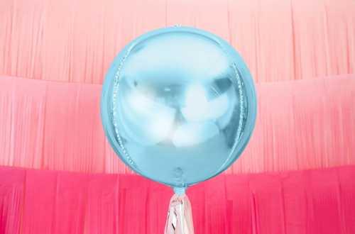 Ballon rond ombré bleu light - 40 cm