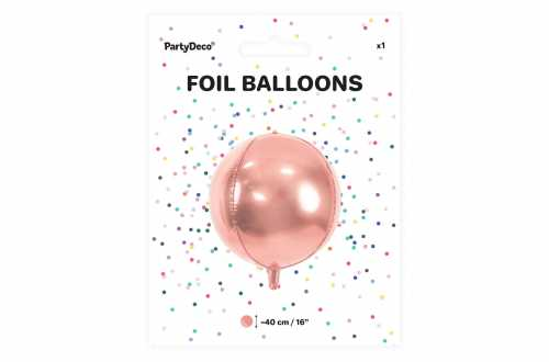 Ballon rond ombré rose - 40 cm
