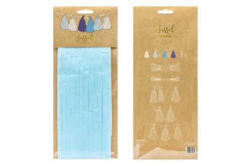 Kit de guirlande tassel bleu