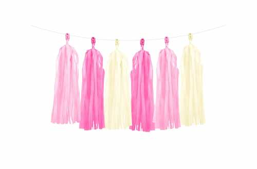 Kit de guirlande tassel nuances de rose