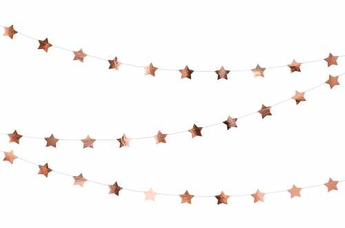 Guirlande étoile rose - 3,6 m