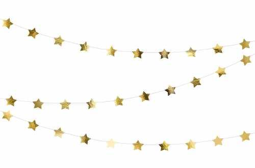 Guirlande étoile doré - 3,6 m