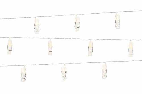 Guirlande LED lumineuse à pinces - 1,4 m