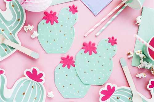 10 Pailles à rayures roses clair