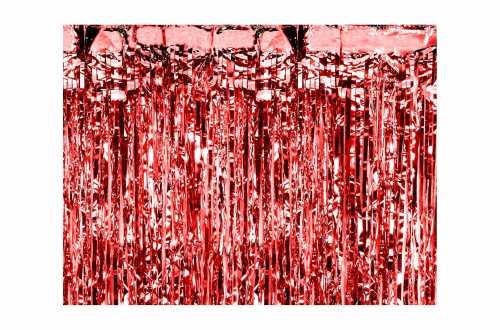Rideau mylar rouge