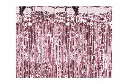 Rideau mylar rose métallisé