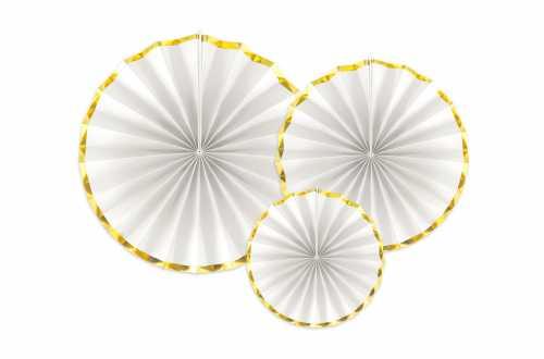 Rosaces blanches à bords dorées