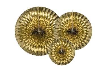 3 Rosaces décoratives - dorée