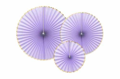 3 Rosaces décoratives - violet à bord doré