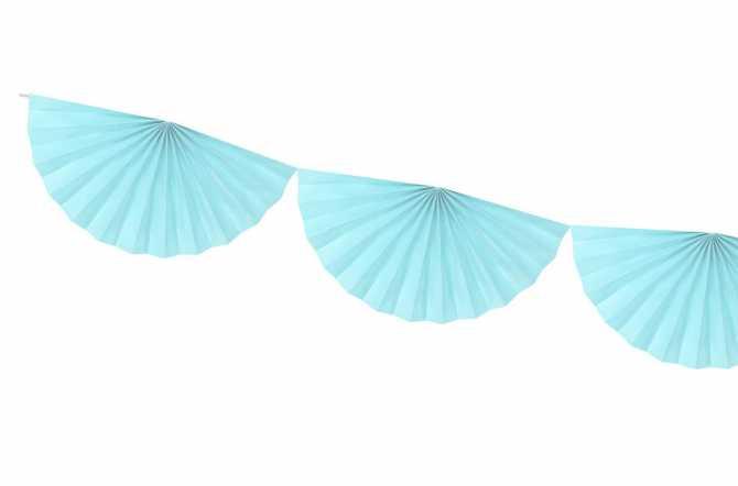 Guirlande rosettes - bleu ciel