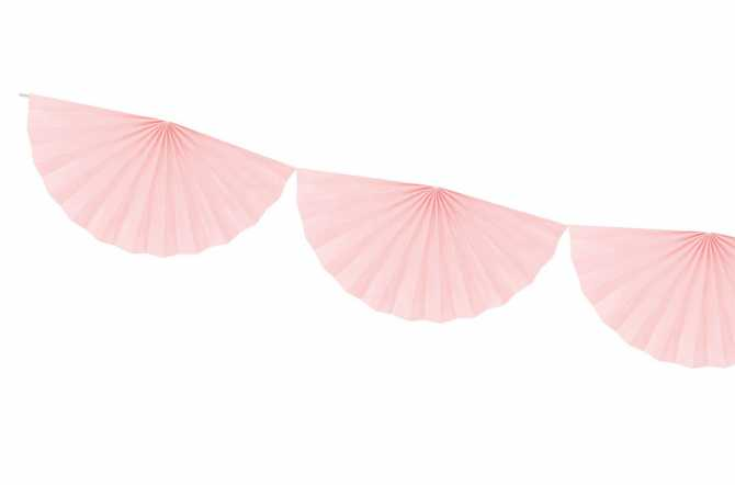 Guirlande rosettes - rose pastel