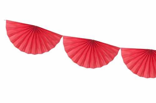 Guirlande rosettes - rouge