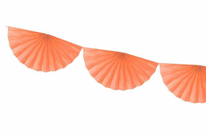 Guirlande rosettes - pêche