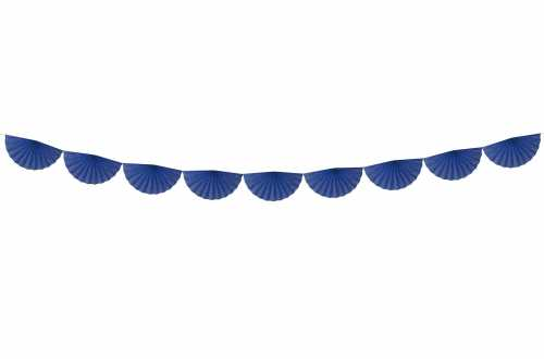 Guirlande rosettes - bleu royal