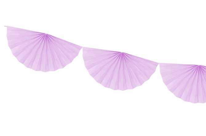Guirlande rosettes - violet pastel
