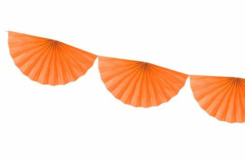 Guirlande rosettes - orange