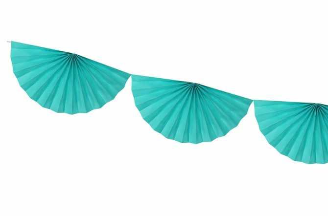 Guirlande rosettes - turquoise