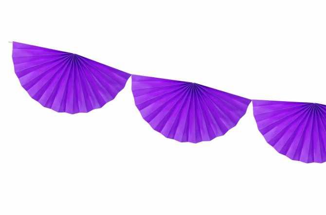 Guirlande rosettes - voilet