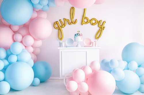 Grand ballon bleu pastel - 60 cm