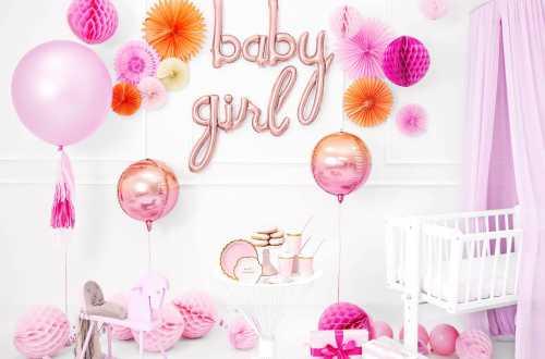 Boule alvéolées décoratives - rose pastel