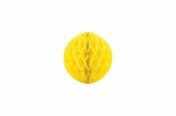 Boule alvéolées décoratives - jaune
