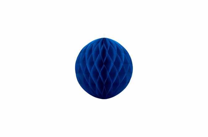 Boule alvéolées décoratives - bleu royal