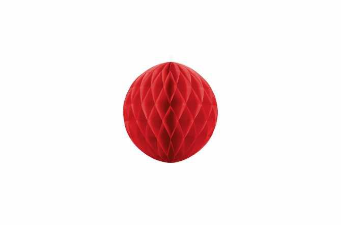 Boule alvéolées décoratives - rouge