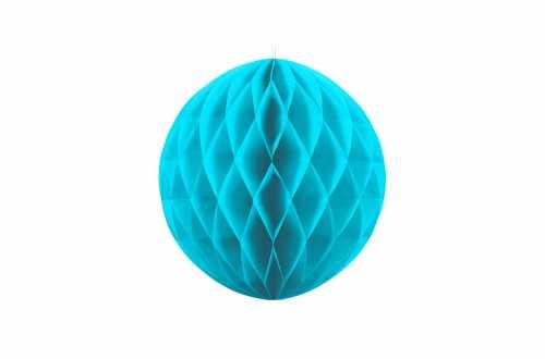 Boule alvéolées décoratives - turquoise