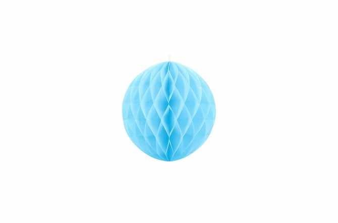 Boule alvéolées décoratives - bleu pastel