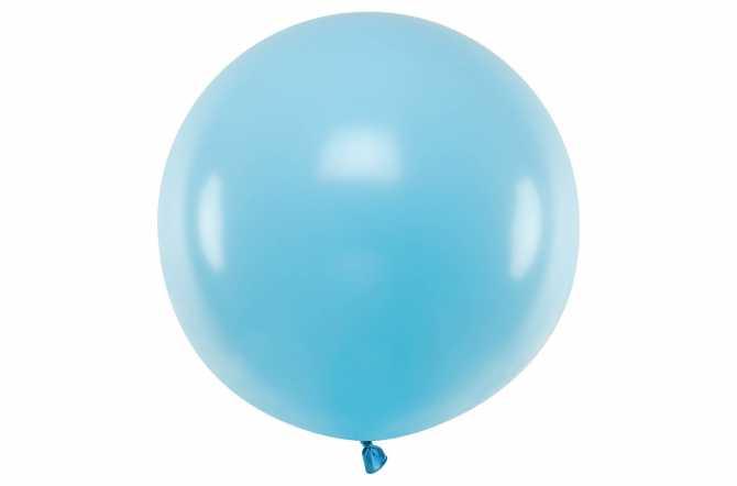 Grand ballon bleu pastel - 100 cm