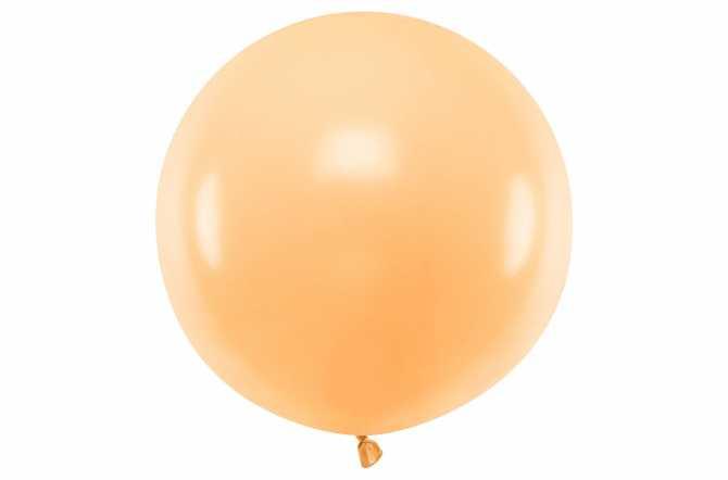 Grand ballon orange pastel - 100 cm