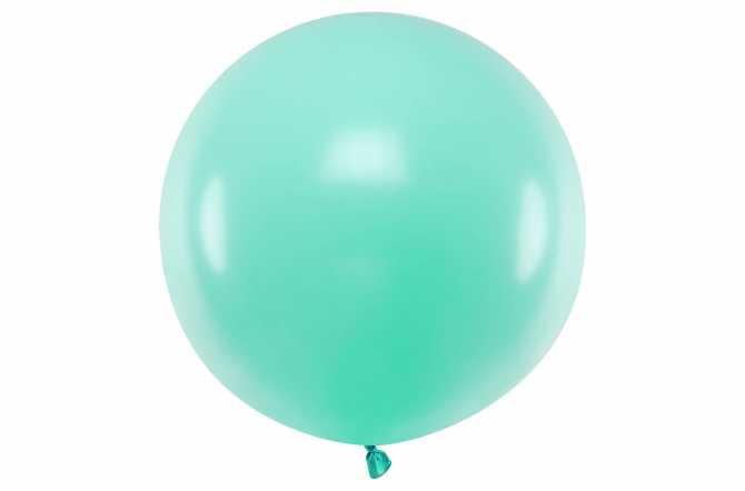 Grand ballon menthe pastel - 100 cm