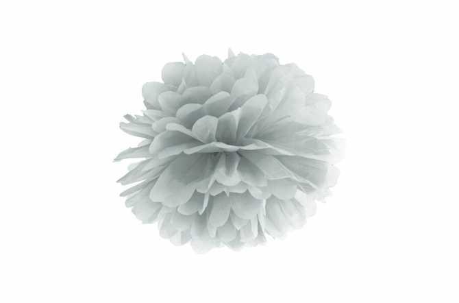 Pompon en papier de soie - gris